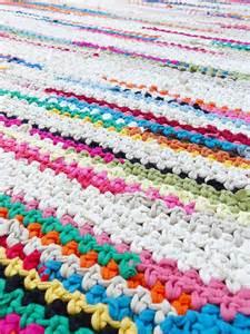 Tapis Au Crochet Tunisien by 17 Meilleures Id 233 Es 224 Propos De Tapis Au Crochet Sur