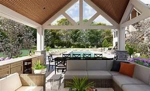 Plan, 911003jvd, Striking, Outdoor, Living, Room, Or, Poolhouse