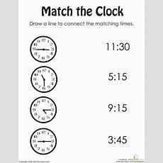 Rotary Clock Practice  Worksheet Educationcom