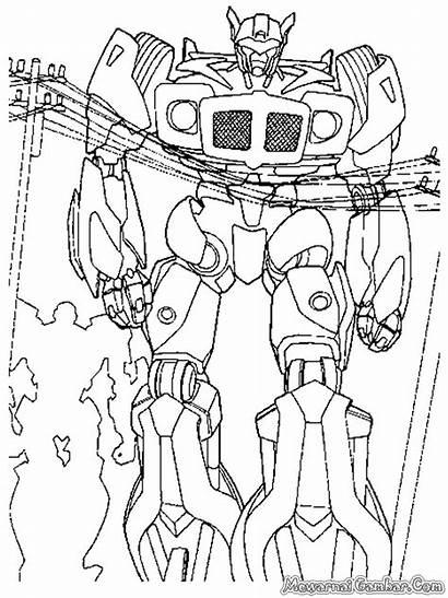 Gambar Transformer Mewarnai Robot Coloring Untuk Transformers
