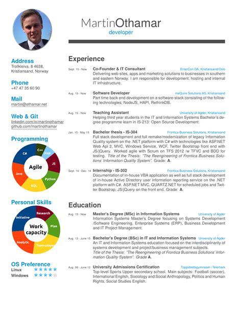 cv template a resume modern cv templates cv