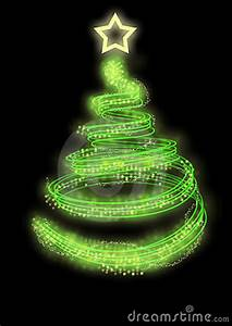 Neon Christmas Tree Stock Image Image