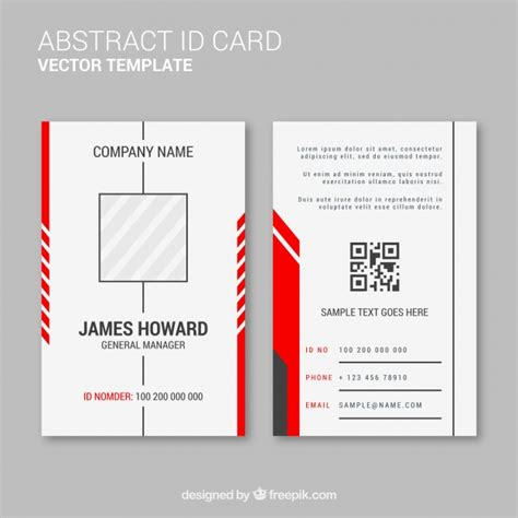 abstract id card template  flat design  vector