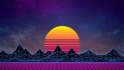 Retro 1980s Vaporwave Neon Px Wallpapers Sunset