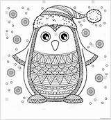 Pages Christmas Penguin Merry Jolly Coloring Printable Coloringpagesonly sketch template