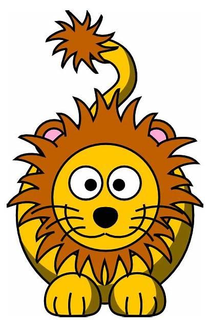 Lion Cartoon Golden Clip Clker Clipart Cliparts