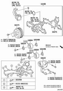 Toyota Avalon Engine Water Pump Pulley  A Pulley That