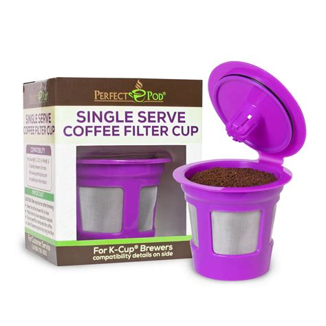 3.8 out of 5 stars 38. Perfect Pod Single Serve Coffee Filter Cup | Reusable Coffee Pod Compatible with Keurig K-Cup ...