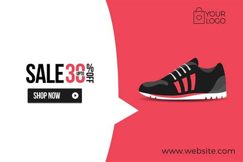flat product sale shoe banner by woo graphics on creative market small steps of inspiration