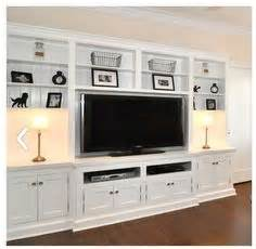Simple Built In Entertainment Center - WoodWorking