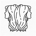 Sign Gemini Twins Icon Astrological Zodiac Outline