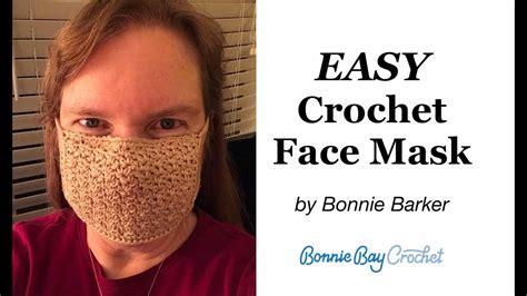 easy diy crochet face mask  filter  bonnie barker