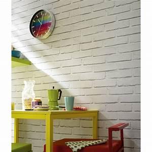 Pierre Blanche Leroy Merlin : papier peint papier brique loft blanc leroy merlin ~ Melissatoandfro.com Idées de Décoration