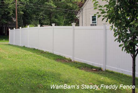 sloped install vinyl fence vinyl fence building  fence