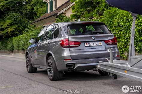 Bmw X5 M50d Spotted Towing A Sailboat In Geneva