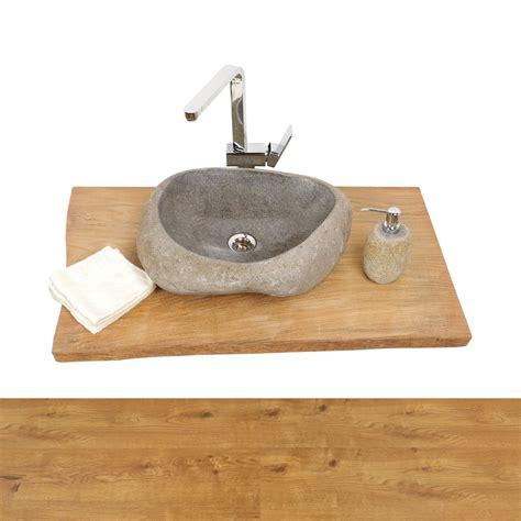 waschbecken mit holzplatte waschtisch holzplatte teakholz ca 135 bei wohnfreuden kaufen