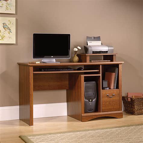 sauder camden county computer desk planked cherry boscovs