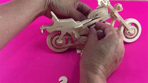 diy  puzzle motorcycle hd   woodcraft construction