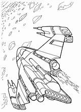 Coloring Ship Space Battle Futuristic Wars sketch template