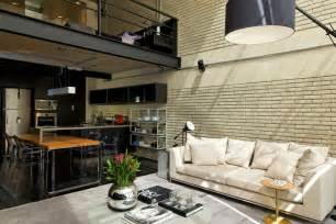 industrial interiors home decor industrial chic loft features the ideal match between comfort and functionality