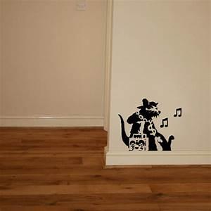 Banksy music rat vinyl wall art sticker ? blunt