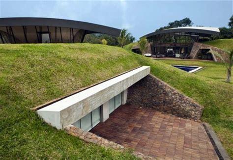 Modern underground hillside houses in Luque, Paraguay