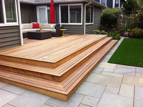 basic deck design simple backyard deck designs home ideas collection