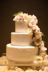 traditional wedding cake cocoa fig traditional wedding cake with cascading flowers for mandi and jeff