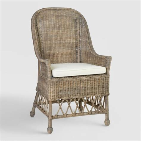 gray rattan adrie dining armchair world market