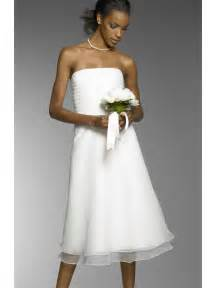 chiffon bridesmaid dresses simple column wedding dress tea length in white chiffon strapless mybridaldress prlog