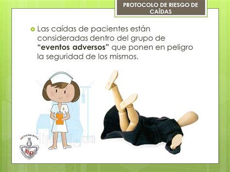 caida en el salon de protocolo para la prevencion riesgo de caidas en pacientes