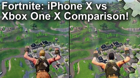 fortnite les versions xbox    iphone  comparees