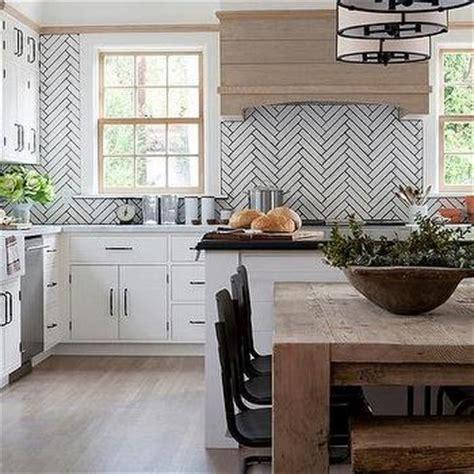 white herringbone tiles  black grout design ideas