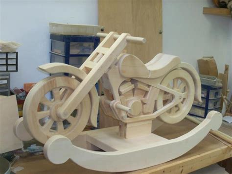 Small Wood House Plan, Wooden Motorcycle Rocker Plans