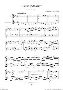 Canon in D Flute and Clarinet Sheet Music