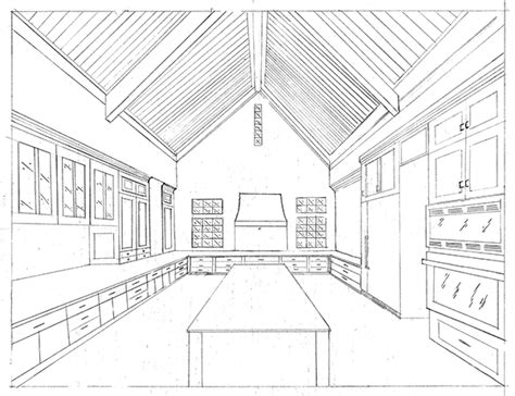 One Point Perspective Bedroom Drawing At Getdrawings.com