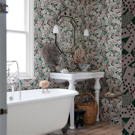 bathroom wallpaper ideas uk plumbworld bathroom wallpaper a or bad idea