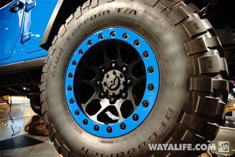 mopar beadlock wheels 2014 sema jeep jk wrangler mopar maximum performance