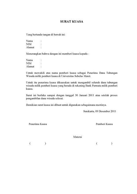 Contoh Surat Memberi Kuasa Kepada Ku Bahwa Saya Tidak Bisa Hadir by Contoh Surat Kuasa Yang Baik Dan Benar