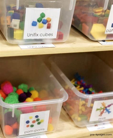 how to set up a math center in preschool or kindergarten 375 | Math Center Labels