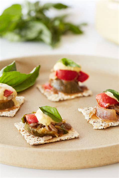 summer canapes mediterranean lentil canapés clean living guide
