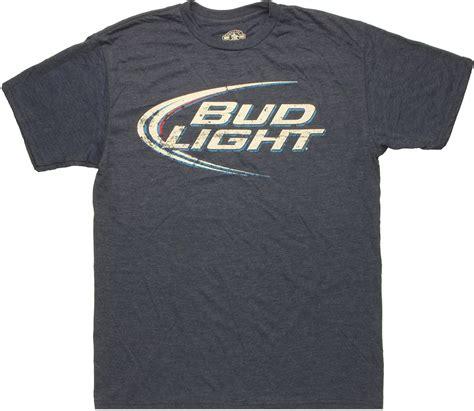 bud light t shirt bud light logo heather navy t shirt sheer