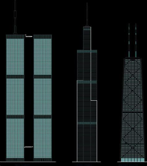 skyscraper dwg elevation  autocad designs cad