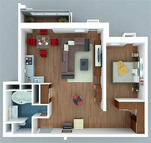 1 bedroom apartment house plans smiuchin for One room apartment design plan