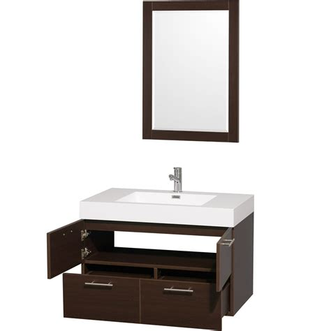 bathroom wall vanity cabinets 36 quot amare wall mounted bathroom vanity set with integrated
