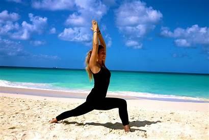 Yoga Pose Warrior Poses Joga Holbox Aruba