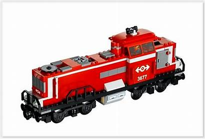 Train Lego Cargo Freight Fire Diesel Material