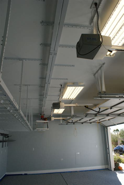 motorized lift system ceiling track  garage