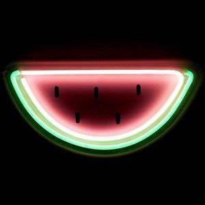 Neon Watermelon LED Wall Light Home Decor Sign Night Beer