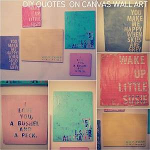 Diy quotes on canvas wall art words to collage
